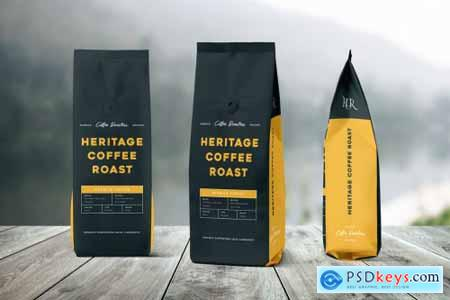 Coffee Bag Packaging Template 2