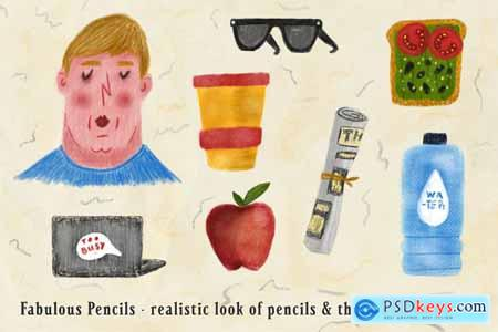 Creativemarket Fabulous Pencils for Procreate 3464978