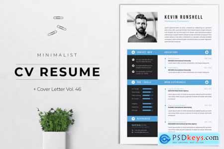 Minimalist CV Resume Vol.46 KENVIN