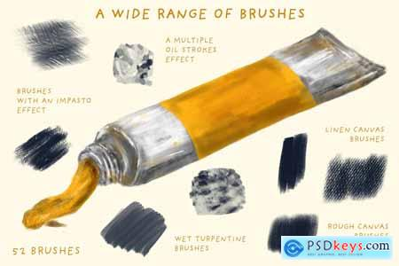 Oil Paint Brushes for Procreate 3514016