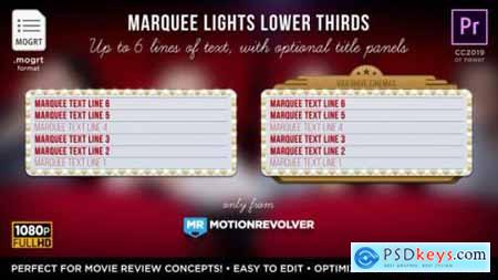 Videohive Marquee Lights Titles & Lower Thirds MOGRT for Premiere Pro 24552539