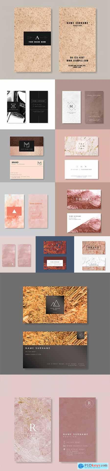 Set of Professional Business Card Templates vol1