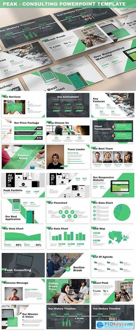 Peak - Consulting Powerpoint Template