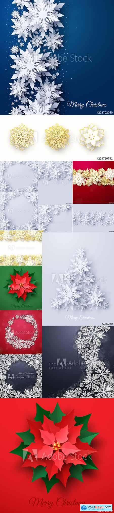 Vector set of New Year 2020 and Christmas Design Backgrounds Vol4