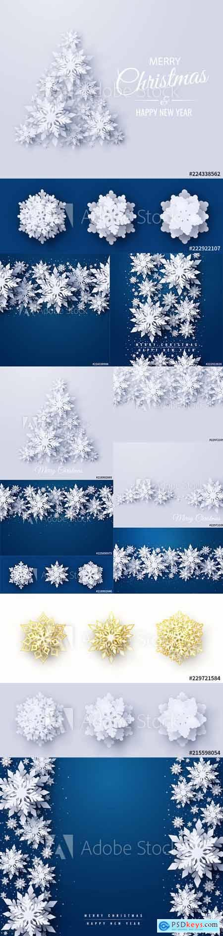 Vector set of New Year 2020 and Christmas Design Backgrounds Vol2