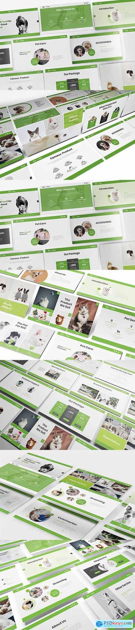 Pet Shop Powerpoint, Keynote and Google Slides Templates