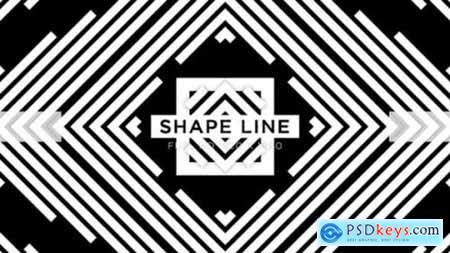 Videohive Shape Line Vj Loops Background 24593404