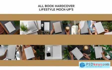 Book Hardcover Mock-Up Lifestyle