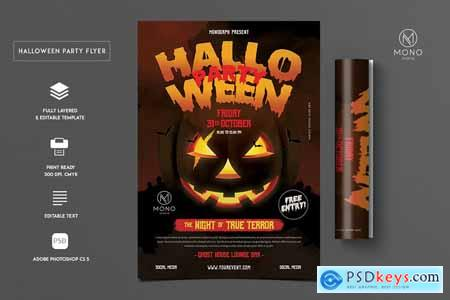 Halloween Party Flyer 4096445