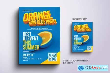 Orange Party Flyer & Poster Design