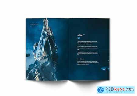 Music A4 Brochure Template