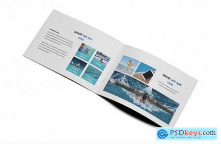 Swimming A5 Brochure Template