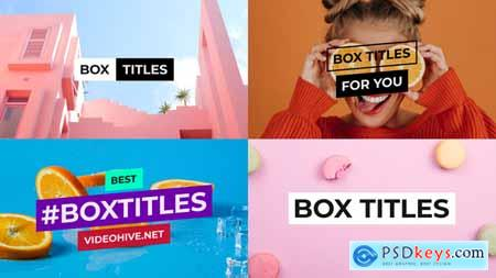 VideoHive BOX Titles and Lower Thirds for After Effects 24573101