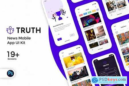 Truth News Mobile App UI Kit