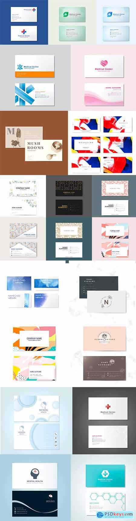 Set of Professional Business Card Templates vol7
