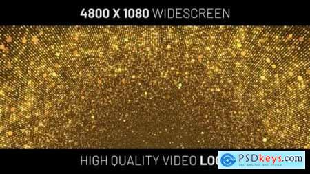 Videohive Gold Circles Particles Widescreen Background 24595006