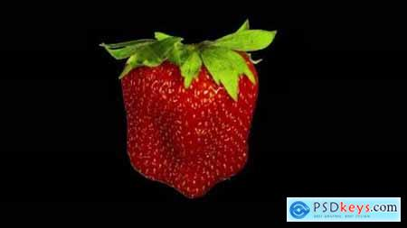 Videohive Rotating Isolated Strawberry 24592373