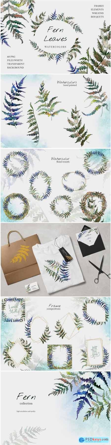 Fern Leaf Clipart Watercolor Png 1769289