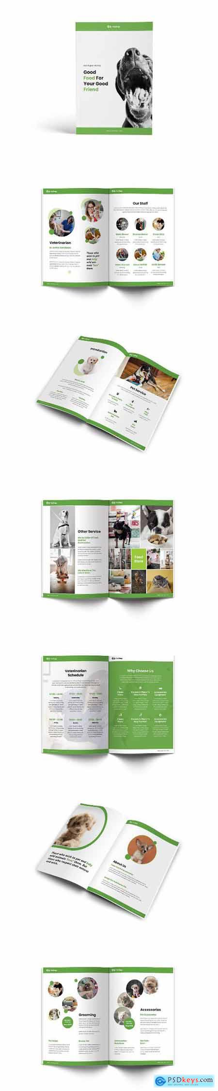 Pet Shop A4 Brochure Template