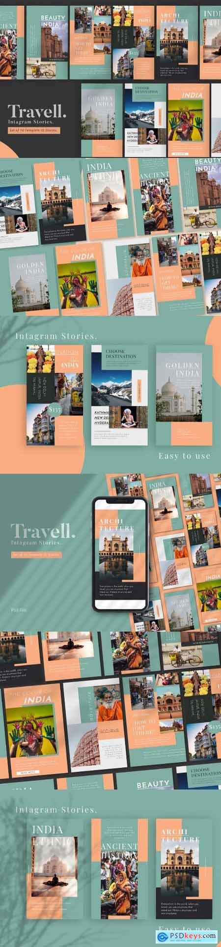 Travel Promotion Instagram Stories Templat
