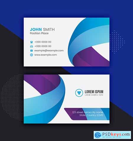 Blue and Purple Business Card Layout 281127335