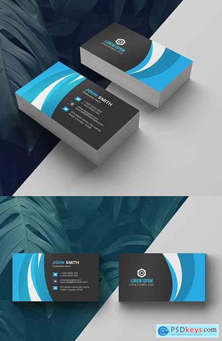 Blue Business Card Layout 277926642