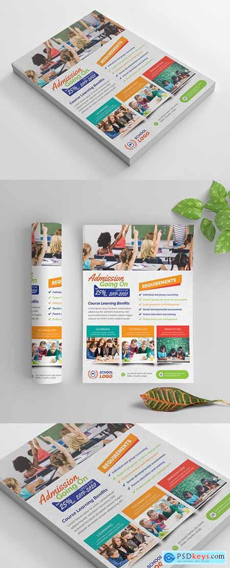 Multicolored School Flyer Layout 269583847