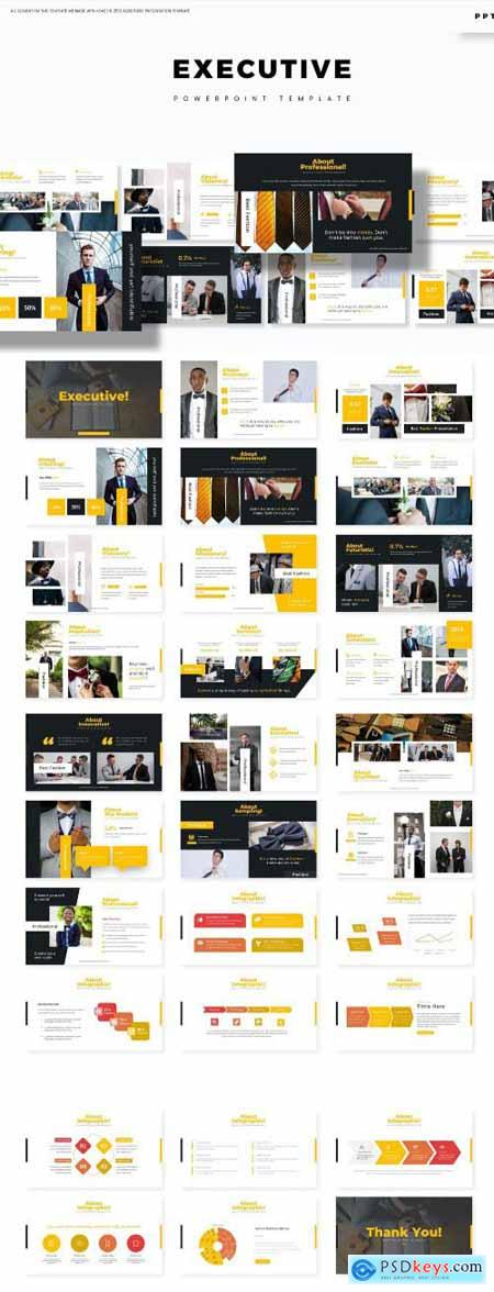 Executive - Powerpoint, Keynote and Google Slides Templates