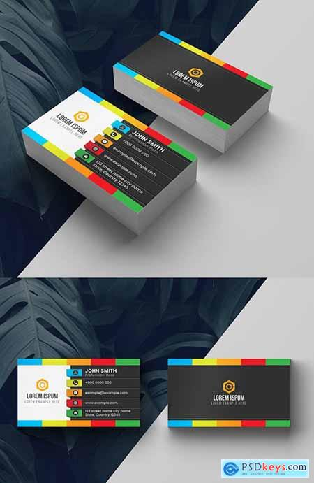 Colorful Dark Business Card Layout 278613765