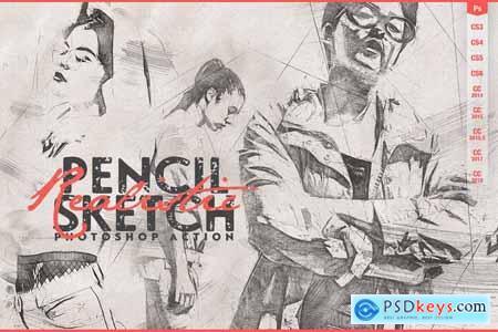 Realistic Pencil Sketch CS3+ 4065726