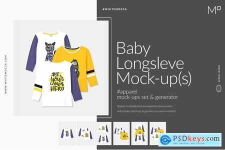 Baby Longsleeve Mock-ups Set 3902815