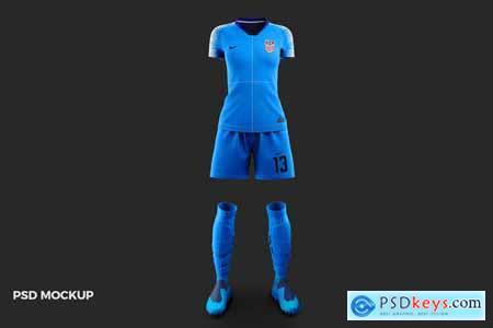 Women's Soccer Kit Mockup - Front 3985861