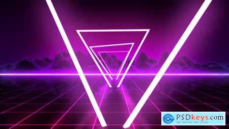 Videohive 80s Retro Background 07 4K 24622657