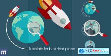 Videohive Business Rocket Short Flat Promotion 8517579