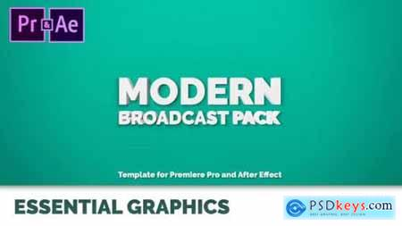 Videohive Modern Broadcast Pack Essential Graphics Mogrt 22853229