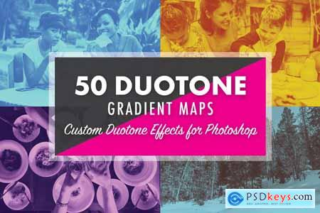 50 Duotone Gradient Maps