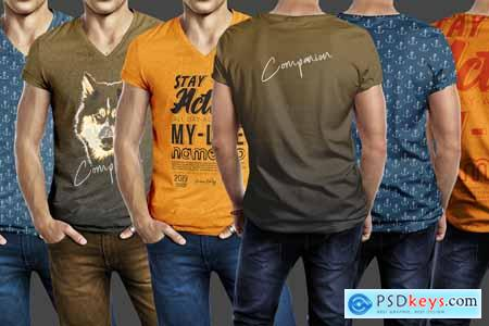 Muscular Men T Shirt Mockup Template 4108691