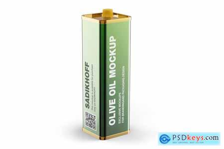 Olive Oil Tin Can w Cap Mockup 4077185