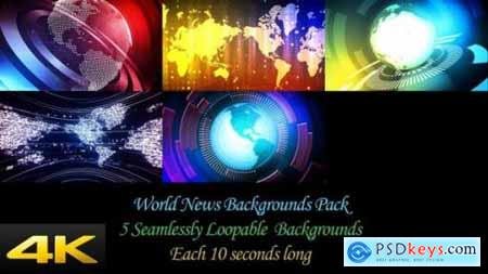Videohive World News Backgrounds Pack 24624378