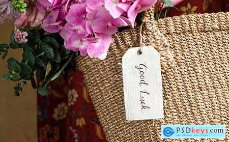 Flowers in a wicker bag 1212408