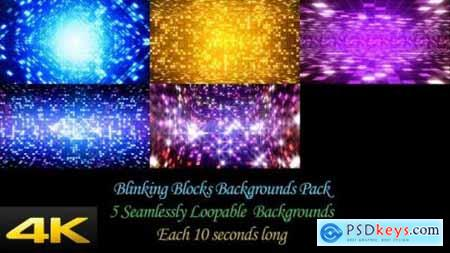 Videohive Blinking Blocks Backgrounds Pack 24624382