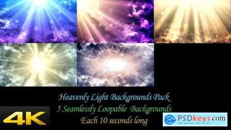 Videohive Heavenly Light Backgrounds Pack 24624377
