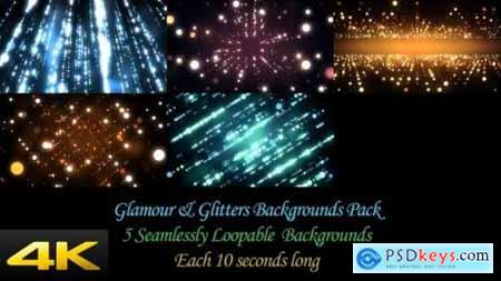 Videohive Glamour And Glitters Backgrounds Pack 24624376