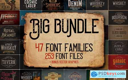 Big Vintage Fonts Bundle