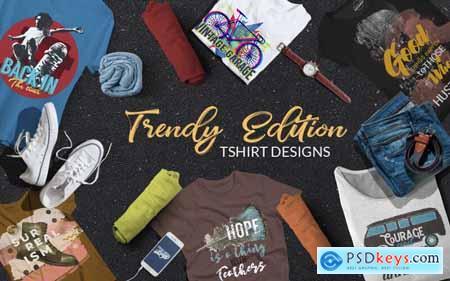 Trendy Edition T-Shirt Designs Bundle