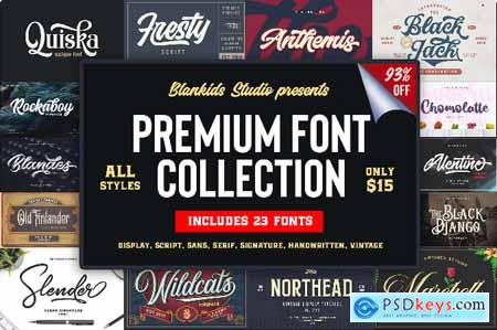 23 Premium Fonts from Blankids Studio
