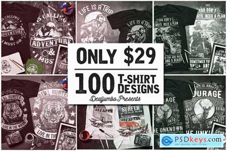 100 Artistic T-Shirt Designs