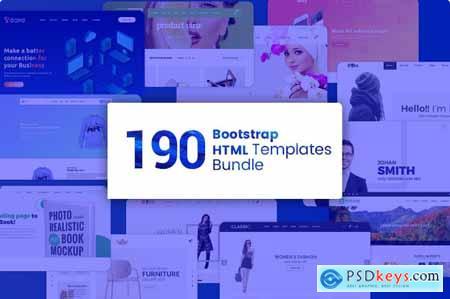 190 Premium Bootstrap HTML Templates