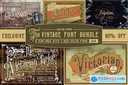 EXCLUSIVE! 5 Popular Vintage Font Families from Burntilldead