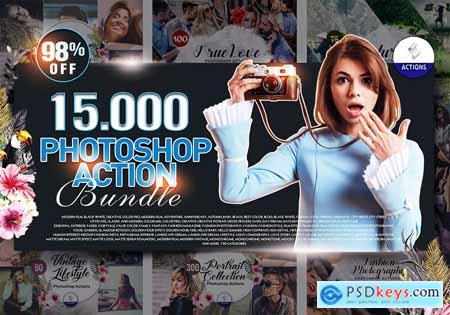 Inkydeals 15000+ Photoshop Actions Bundle